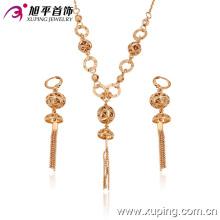 63147 neueste gold schmuck design mode schöne 18 karat gold überzogen indische ethnische schmuck-sets