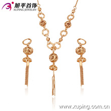 63147 latest gold jewelry design fashion beautiful 18k gold plated indian ethnic jewelry sets