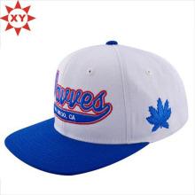 6 Panel Plain Blank Snapback Hat Cap plat en gros