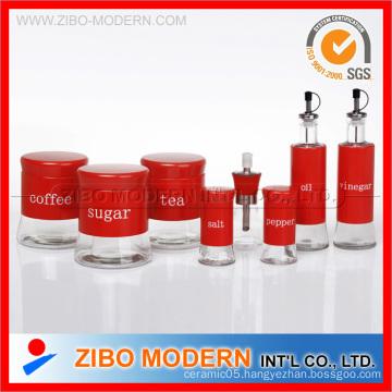 Glass Storag Jar Glass Oil Vinegar Bottle Set