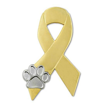Animal Cruelty Awareness Ribbon Paw Revers Pin