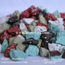 Горячие сладкие шоколадные камни