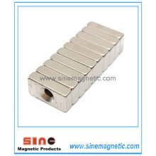 Stabile starke Block-Magneten Loch 4mm Seltener Erde NdFeB Magnet