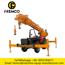 Grúa montada en tractor, excavadora Digger Pole Erection Machine