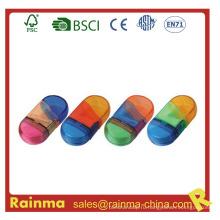 Школьная цветовая точилка с ластиком