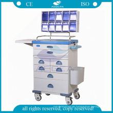 Medikation für Krankenschwester mobile Workstation Stahl Anästhesie Trolley