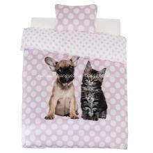 100% Polyester Duvet Covet Dog & Cat Print