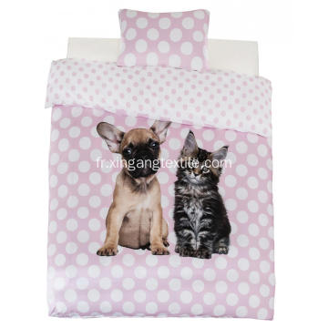 100% polyester couette Covet Dog & Cat Print