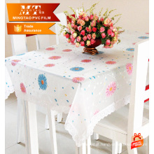 Diferentes padrões pvc filme soft pvc sheet for table cover