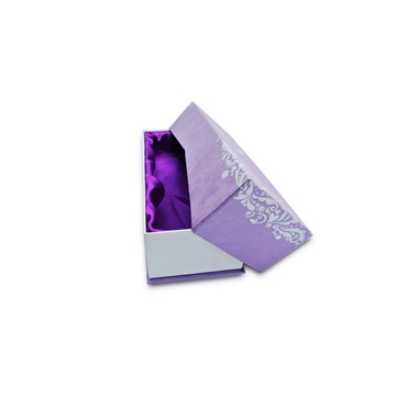 Exquisite purple top and bottom gift box