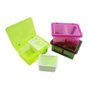 2 grades plástico caixa de tempero