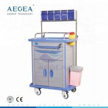 AG-AT001A3 Krankenhaus-dauerhafter Anästhesiepflegewagen mit zwei Fächern