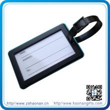 Etiqueta propia del equipaje del PVC del diseño al por mayor para el recuerdo