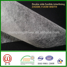 Double side fusible interlining for garments