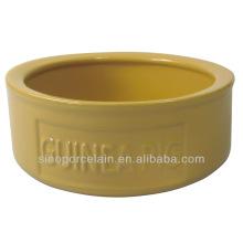 Bol en céramique coloré-glacé pour animaux de compagnie pour le porc pour BS131118A