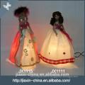 Belle princesse poupée pas cher décoratifs en céramique lampe de table