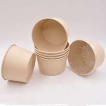 Bamboo Fiber Disposable Paper Salad Food Container Bowl