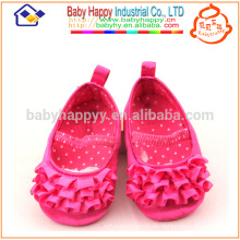 Kinder Fantasie Partei Mädchen Rosa Baby Kleid Schuhe MOQ300