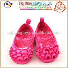 Niños Fancy Party Girls Rosa zapatos de vestir de bebé MOQ300