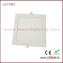 Plata / blanco 15W Square LED luz del panel cuadrado para el centro comercial LC7727t