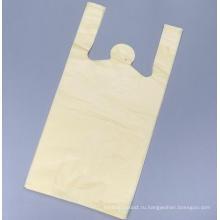 Пластиковая сумка для покупок в желтом