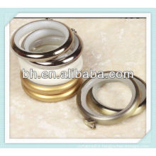 modern shape metal curtain rod eyelet with little rings,accessories for roman curtains
