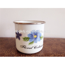 porcelain enamel metal tea cup /drink ware