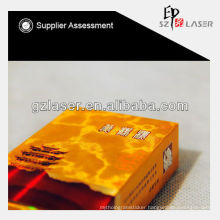 Hologram transparent lamination film with printing for tobacco box
