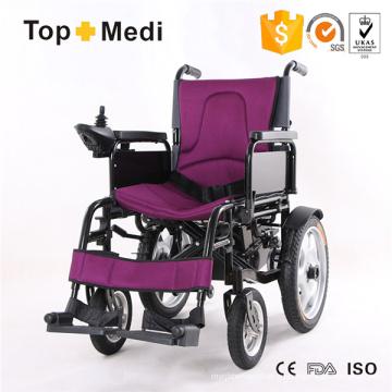 Silla de ruedas eléctrica de aluminio popular y económica certificada CE