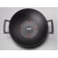Cast iron wok inductions meat wok