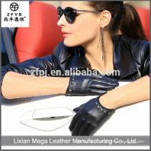 China Wholesale Senhoras personalizadas curto Thin Luvas de couro com pregos
