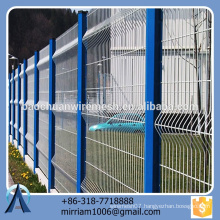 hot sale new design high quality special pvc coated garden fence triangle bending fence