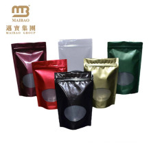 Custom Printed Stand Up Resealable Zip Lock Metallic Laminated Aluminum Pouch For Tea/Food/Snack/Coffee Packaging