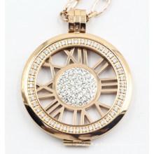 Joyería colgante del medallón del acero inoxidable de la manera 316L de gama alta con las piedras del ajuste del diente