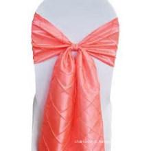 faixa de cadeira pintuck tafetá decorativo e bonito, arco da cadeira para o banquete de casamento