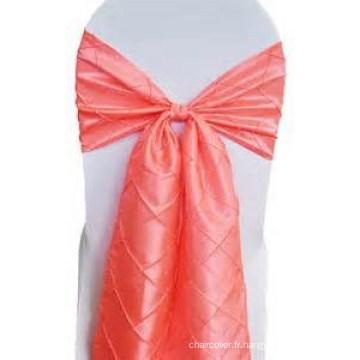 ceinture de chaise pintuck taffetas décoratifs et belle, arc de chaise de banquet de mariage