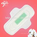 Fournisseur de la Chine serviettes hygiéniques de super absorbance ultra mince avec l'ion négatif