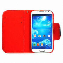 Hot Selling Flip Cover for Samsung 9500, with Good Quality, PC + PU Material