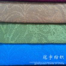 Modèle de fleur de tissu de velours de polyester et de nylon gaufré pour le sofa