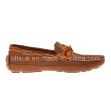 Brown Men′s Classic Leather Lace up Boat Shoes