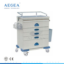 AG-AT018 Powder coating steel hospital movable used medication carts