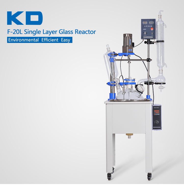 20L Single Layer Distillation Glass Reactor