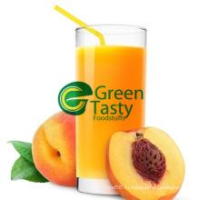 Горячий сок желтого персика в высоком качестве