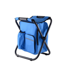 Wholesale metal folding fishing chair portable picnic chair with cooler bag
