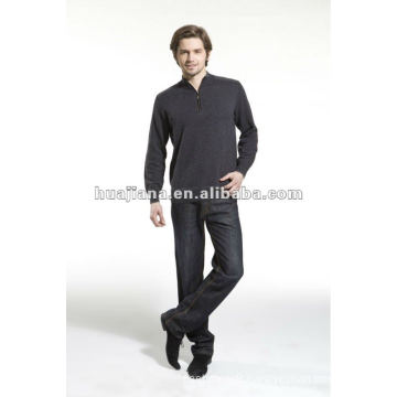 Luxury Men's winter cashmere sweater coat with zipper