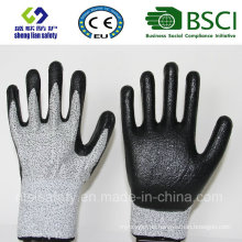 Cut Resistant Safety Work Glove with Foam Nitrile Coated