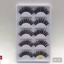 Alta qualidade 5 pares 3d vison pele cílios falsos 3d vison cílios