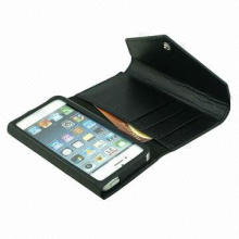 Hot sale wallet leather case for iPhone 5, OEM services are welcome