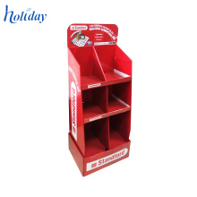 Retail Cardboard Floor Display Stand For Grocery Store