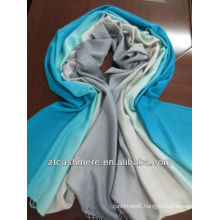 cashmere and silk gradual worsted woven scarf